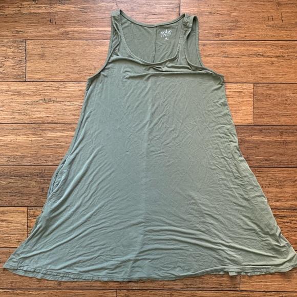 New York & Company Dresses & Skirts - Olive Green Sleeveless Dress with Pockets